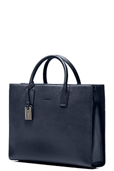 Hartmann Ashbon Double Gusset Briefcase Navy