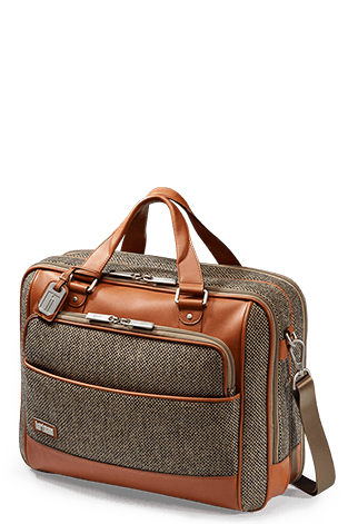 Hartmann Tweed Belting Briefcase L Natural Tweed